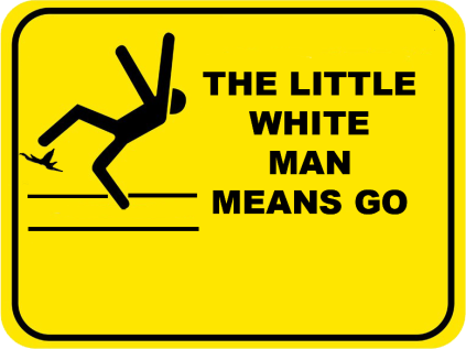 The Little White Man Means Go